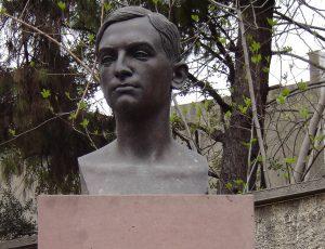 Bust de Francesc Pujols a la Torre de les Hores. Foto: Fundació Francesc Pujols
